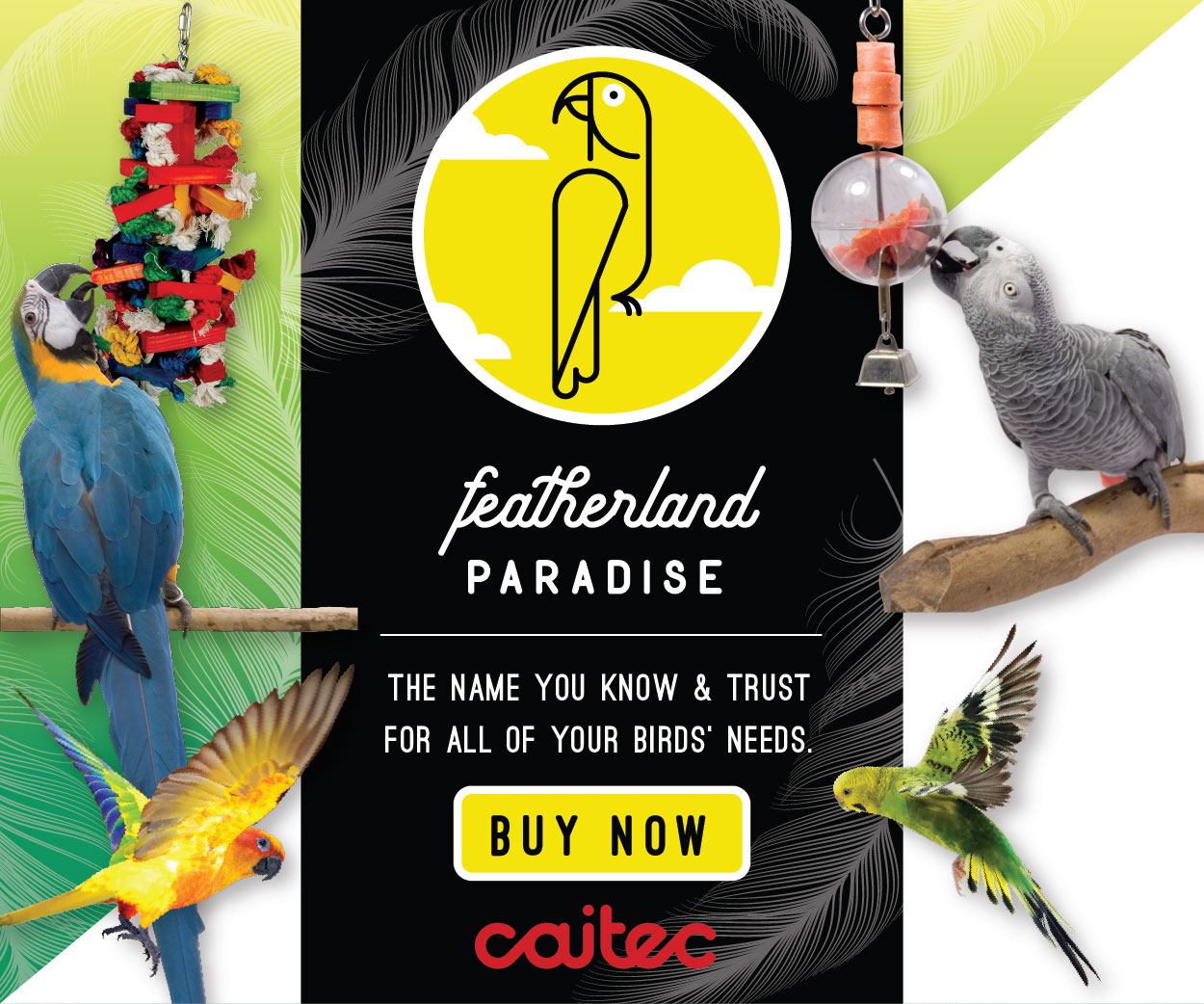 Featherland Paradise - The name you know & trust for all of your birds' needs.